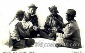 Rickshaw Men Playing Cards Gambling Postcard Postcards