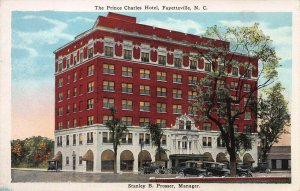 The Prince Charles Hotel, Fayetteville, North Carolina, Early Postcard, Unused