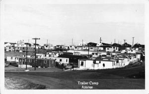 Azores Portugal Trailer Camp Scenic View Real Photo Antique Postcard J77581