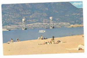 One Of The Superb Beaches On The Shores Of Sunny Okanagan Lake, Kelowna, Brit...