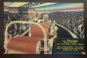 Firestone Tires Factory Demo 1934 Worlds Fair Chicago Postcard