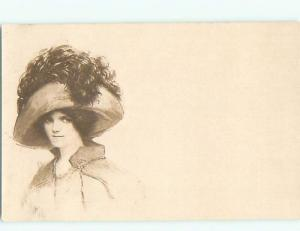 Divided-Back PRETTY WOMAN Risque Interest Postcard AA7872