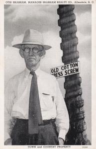 Otis Brabham, Manager Brabham Realty Co. , ALLENDALE , South Carolina , 1930s