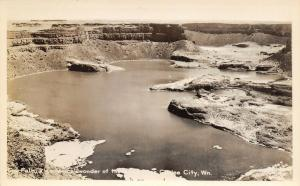 Coulee City Washington~Dry Falls~Geological Wonder of World~1930s RPPC