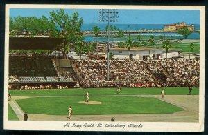 Al Lang Field St Petersburg Florida fl old postcard