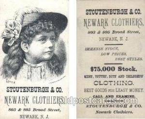 Approx Size Inches = 2.5 x 4.5  Stoutenburch& Co, Newark NJ USA