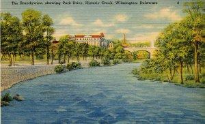DE - Wilmington. The Brandywine, Park Drive, Historic Creek