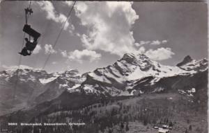 Switzerland Braunwald Sesselbahn Ortstock Photo