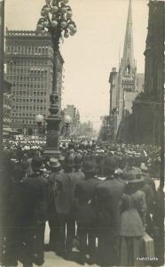c1910 Philadelphia Street Scene Pennsylvania Knights Templar Parade RPPC 9035x