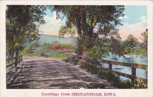 Iowa Greetings From Shenandoah Curteich