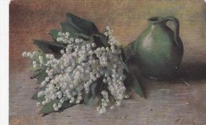 AS: Still Life: Bouquet of white flowers, Pitcher, 00-10s