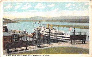 South from Promenade Hill Hudson River, New York Postcard