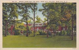 North Carolina Mars Hill Brown Dormitory For Boys