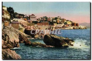 Marseille Old Postcard the cornice of the Reserve Promenade Hotel and the pro...