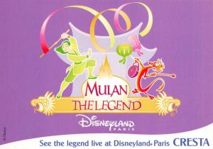 Postcard DISNEY, Disneyland, MULAN The Legend, Promotional Card #186