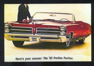 1965 PONTIAC BONNEVILLE CAR DEALER ADVERTISING POSTCARD '65 CONVERTIBLE