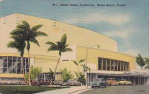 Florida Miami Beach The Auditorium 1958 Curteich