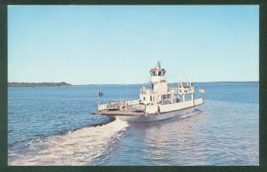 Ferry GOVERNOR MUSKIE Lincolnville Beach MAINE Penobscot Bay Isleboro Postcard