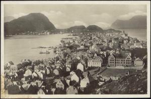 norway norge, AALESUND ÅLESUND, Partial View (1930s) RPPC