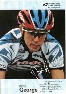 USPS Pro Cycling Team - Post Card - David George - Mint