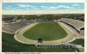 Creighton University, Stadium, Omaha, Nebraska, USA Football Stadium, Postcar...