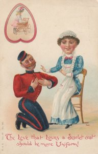 Bell boy proposing to maid, PU-1903