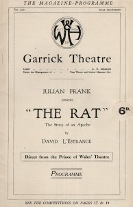 Maurice Braddell of Andy Warhols Flesh The Rat Garrick Theatre Programme