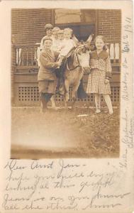 People and Children Photographed on Postcard, Old Vintage Antique Post Card K...
