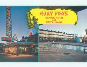 Pre-1980 RUBY FOOS MOTEL & RESTAURANT Montreal QUEBEC W5418