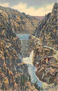 Highway and Dam Shoshone Canyon Cody Wyoming WY