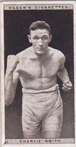 Ogdens Vintage Cigarette Card Pugilists In Action 1928 No 40 Charlie Smith