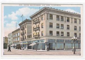 Hotel Montgomery San Jose California 1920c postcard