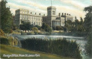 Foreign Office from St James park London England Postcard
