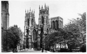 Superb Vintage Real Photo Yorkshire Postcard, West Front, York Minster GM1