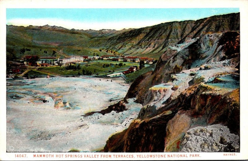 Yellowstone National Park Mammoth Hot Springs Valley From Terraces Haynes Photo