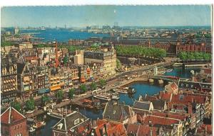 Netherlands, Amsterdam, Damark with view at Y. 1960s unused
