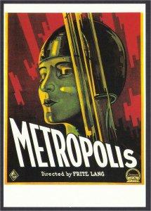 Postcard of Metropolis Movie - Brigitte Helm in Helmet