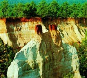 Lumpkin Géorgie Ga Providence Canyon État Park non Utilisé Unp Vtg Chromé