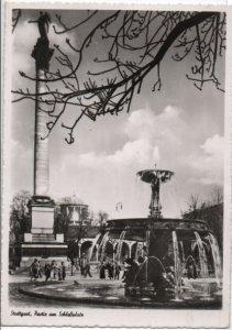 Post Card Stuttgart Germany  Pactie am Schlobplatz. Fountain