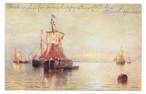 Under Venetian Skies H. Romanie Painting Vtg UDB Postcard
