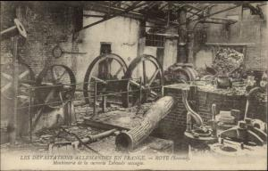France WWI Destruction of Machinery Roye Somme Postcard #5