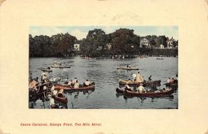 East Providence Rhode Island~Omega Pond~Canoe Carnival~Ten Mile River~1910 PC