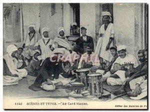 Old Postcard In Algeria Coffee Moor