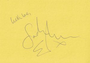Sarah Earnshaw 2006 Cast Wicked Spamalot Lady Of The Lake Hand Signed Autograph