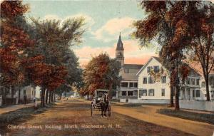 25347 NH, Rochester, Charles Street, Looking North, horse drawn carrige on road