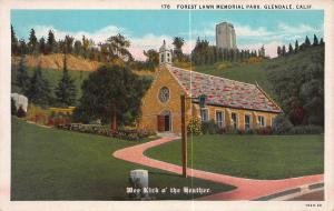 Forest Lawn Memorial Park, Glendale, California, Early Postcard, Unused