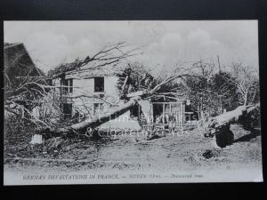 WW1 German Devastation in France - NOYON (Oise) - Dynamited Trees