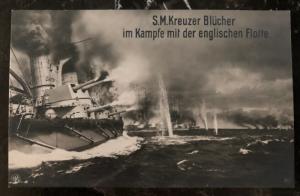Mint Germany Real Picture Postcard SMS Blücher battlecruiser Kaiserliche Marine