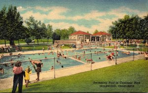 California Inglewood Centinela Park Swimming Pool Curteich