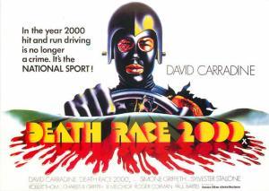 Postcard of Death Race 2000 Roger Corman Movie David Carradine